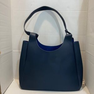 Neiman Marcus Leather Blue Tote Bag